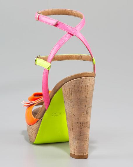 Love Bug Cork-Heel Sandal
