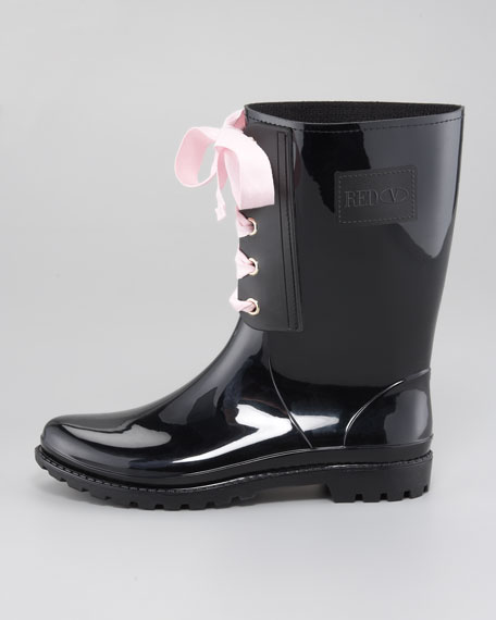 PVC Lace-Up Rain Boot