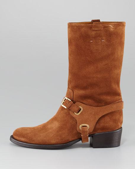 Isaline Suede Mid-Calf Boot