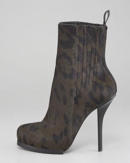 Aymeline Lift-Heel Chelsea Boot, Calf Hair