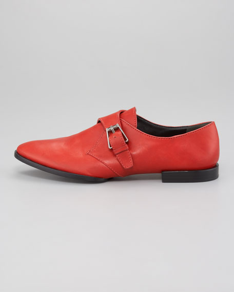 Ruby Monk Shoe, Leather