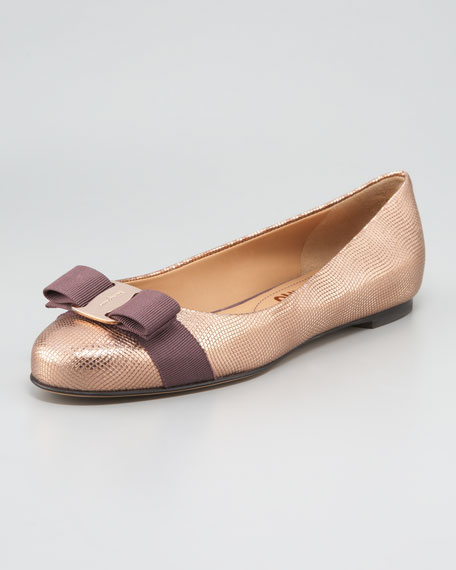 Varina Metallic Bow Ballet