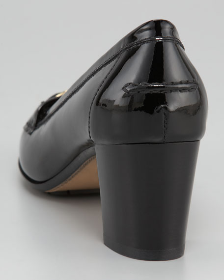 Patent Leather Loafer Pump