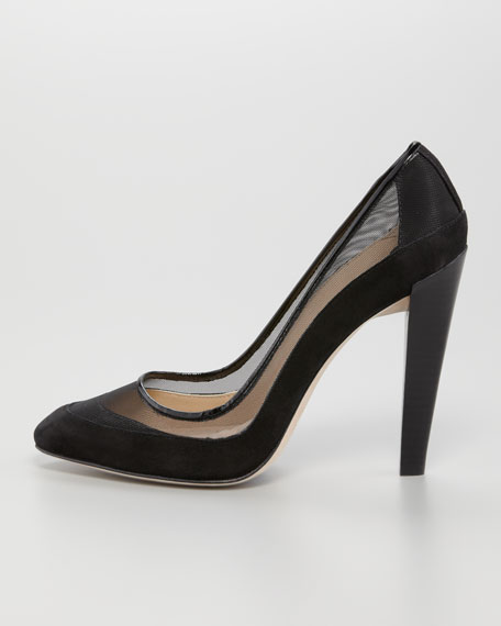 Darlena Suede and Mesh Pump