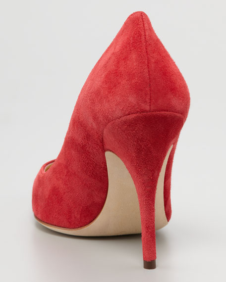 licorice suede pump