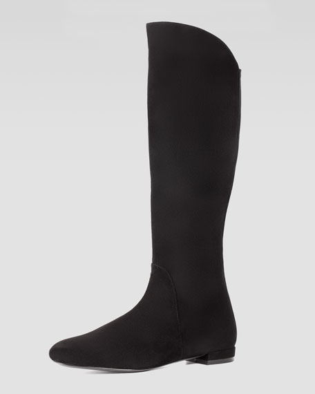 Halftime Suede Boot with Stretch-Fabric Back