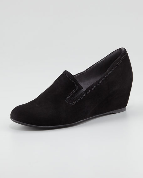 Onhold Gored Slip-On Wedge Loafer