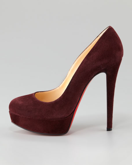 Bianca Suede Platform Red Sole Pump