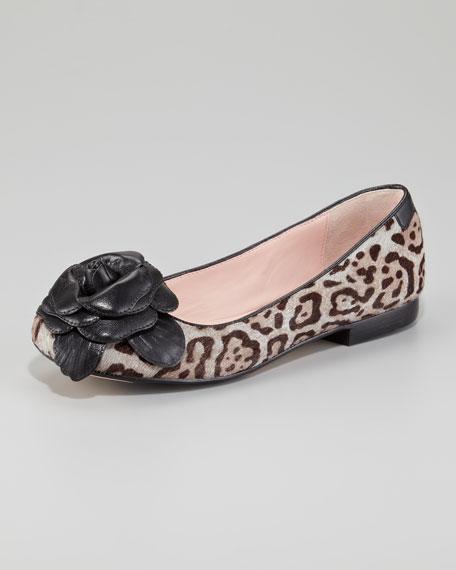 Breanna Flower Toe Ballerina Flat