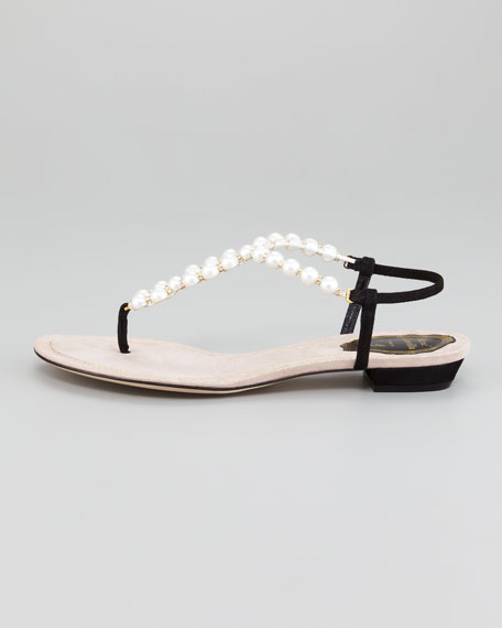 Pearl-Strap Sandal