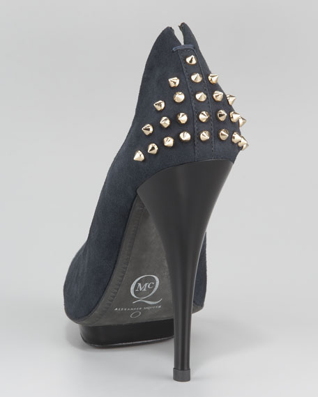 Two-Tone Studded-Back Pump