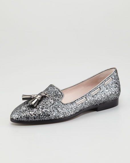 Tasseled Glitter Loafer