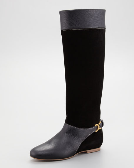 Marcie Suede Tall Boot