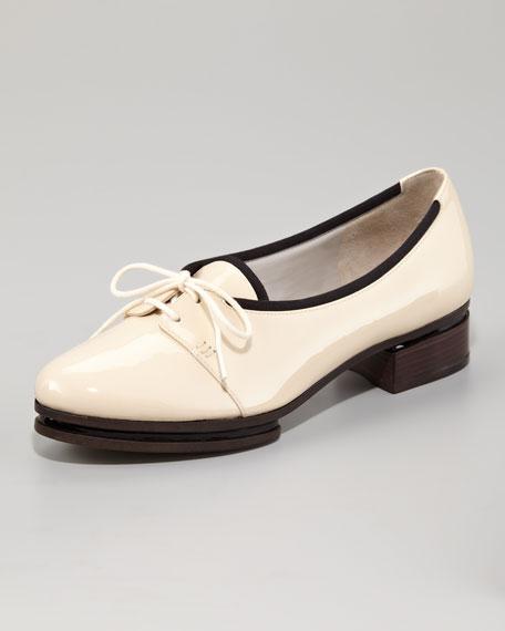 Patent Low-Heel Oxford