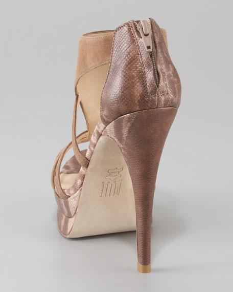 Pelle Moda Suede Platform Sandal