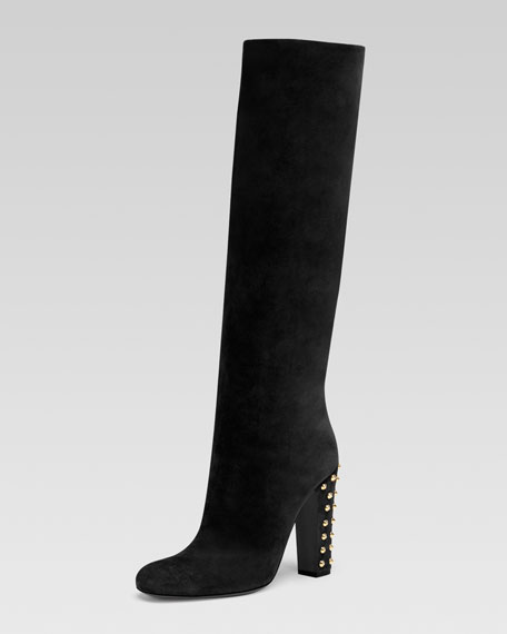 Suede High-Heel Boot