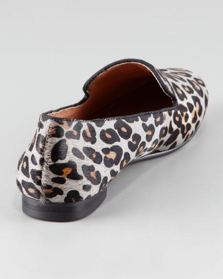 Leopard-Print Calf Hair Loafer