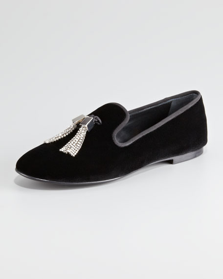 Tasseled Velvet Loafer