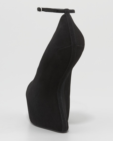 Heel-Less Ankle-Strap Pump