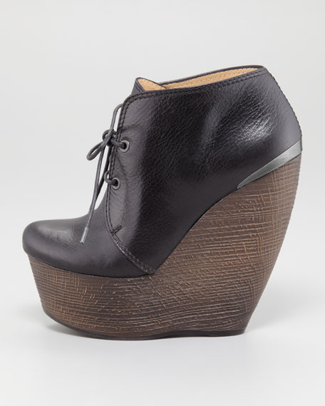 Crazy Lace-Up Wedge Bootie