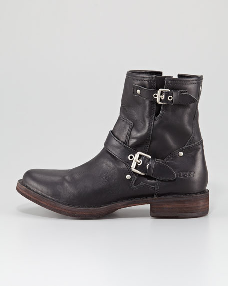 Fabrizia Leather Motorcycle Boot