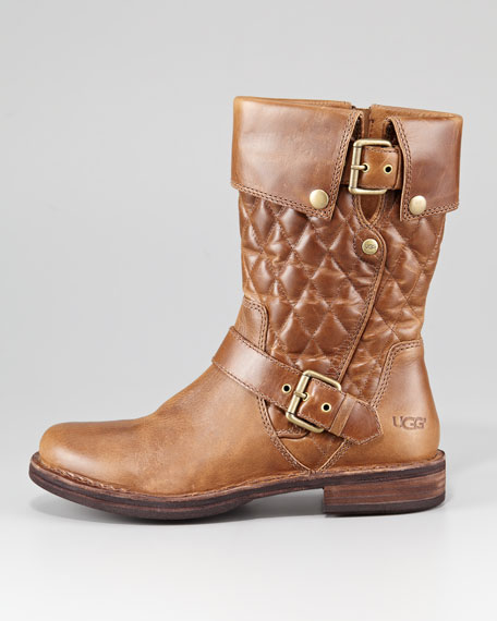 Connor Quilted Flat Boot