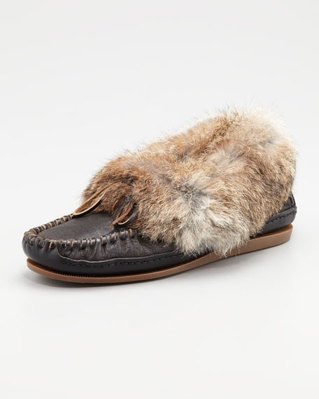 Mason Cuffed Fur Moccasin