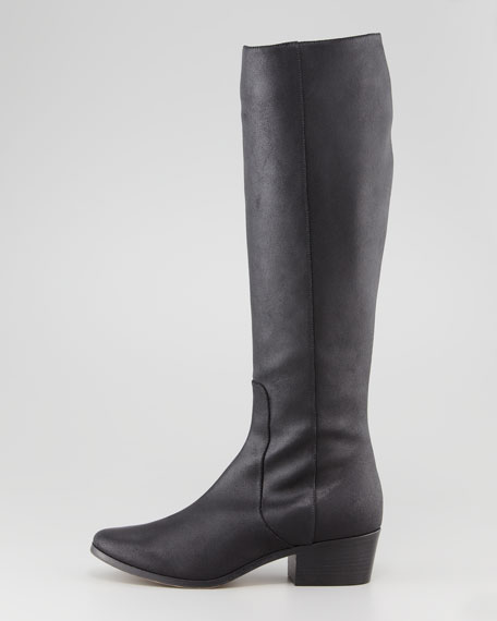 Bili Low-Heel Boot, Black