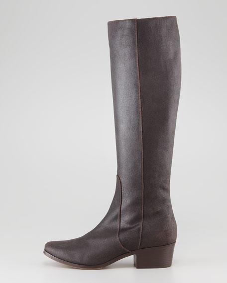 Bili Low-Heel Boot, Brown