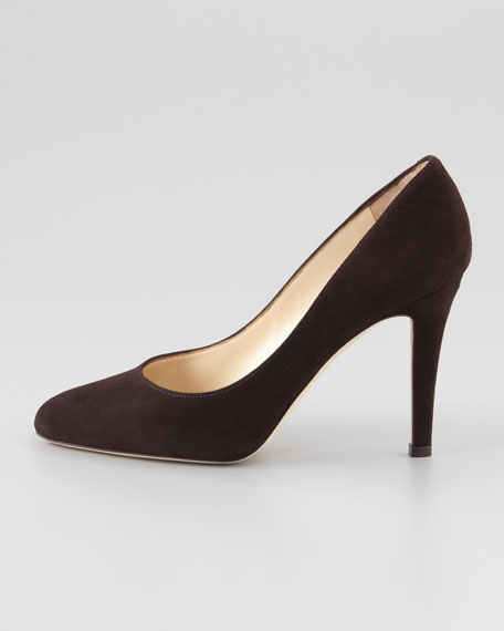 Vikki Suede Pump, Brown