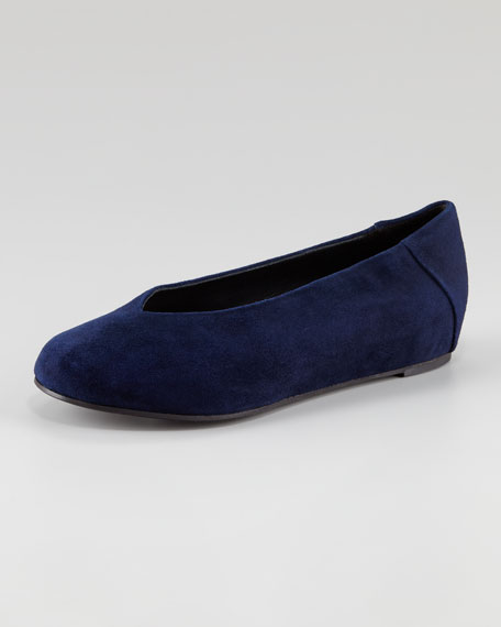 Patch I Suede Envelope Wedge Flat