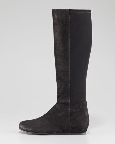Nubuck Stretch-Back Boot