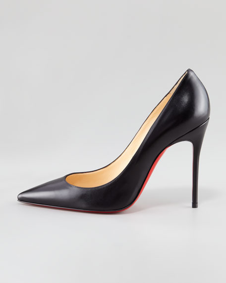 Decollete Calfskin Pointed-Toe Red Sole Pump