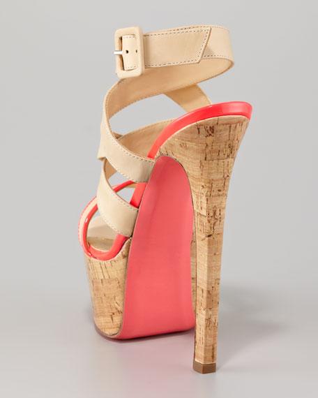 Cork-Platform Sandal