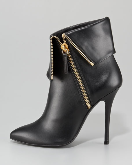 Fold-Over Zip Ankle Boot