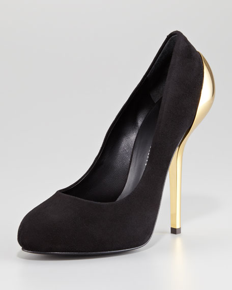 Golden Heel Pump