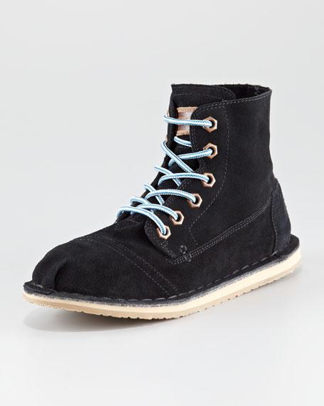 Tomboy Lace-Up Flat Boot