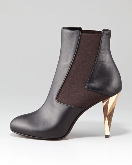 Wuthering Heights Inlay-Heel Stretch Bootie
