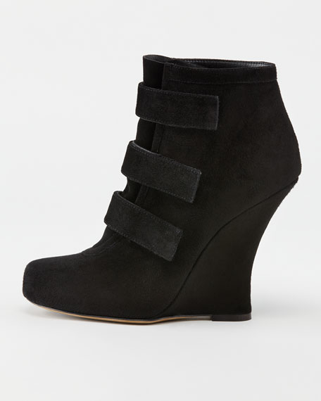 Amber Grip-Strap Wedge Boot