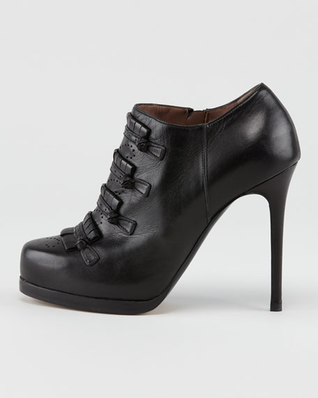 Nessy Leather Bootie