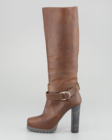 Shearling-Lined Tall Boot