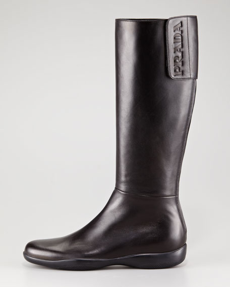 Leather Logo Sport Boot