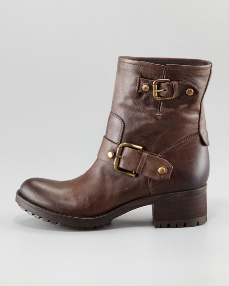 Buckle-Detailed Ankle Boot