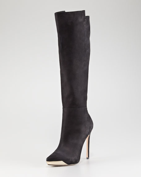 Metal-Detailed Tall Boot
