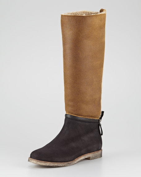 Shearling Removable-Shaft Boot