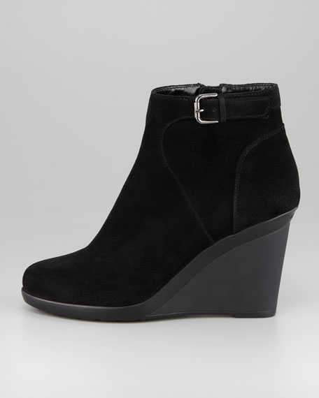 Nadia Suede Wedge Ankle Boot