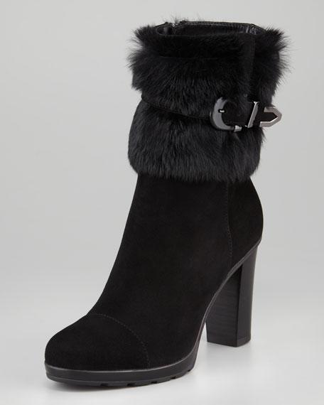 Pop Weatherproof Rabbit-Cuff Ankle Boot