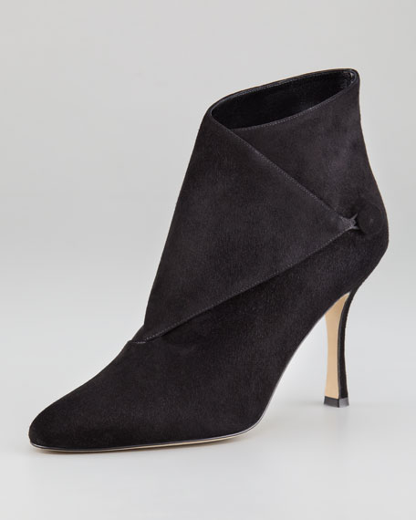 Diaz Suede Bootie, Dark Brown