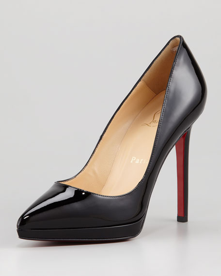 Pigalle Patent Platform Red Sole Pump