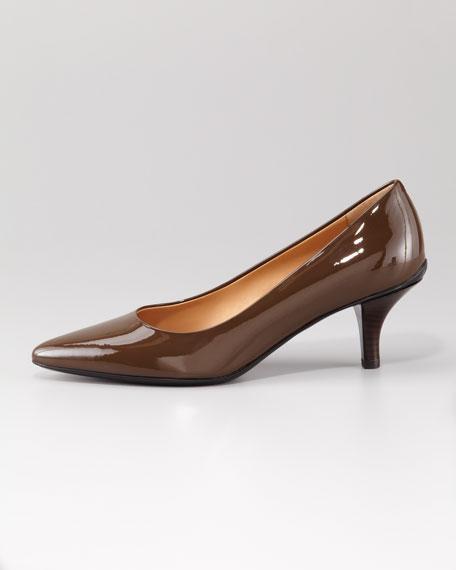 Tanna Patent Leather Mid-Heel Pump